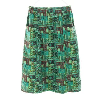 South2 West8 Woman サウスツーウエストエイトウォメン - Army String Skirt - India Jacquard - Emerald