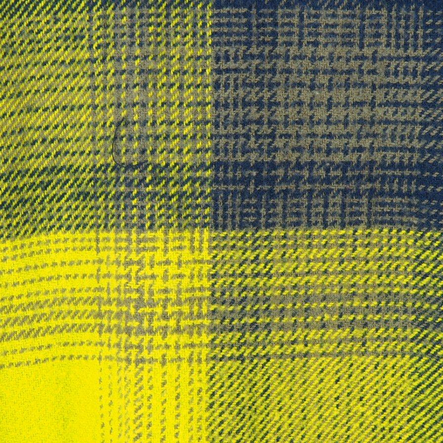 NOMA t.d. ノーマティーディー - N Ombre Plaid Diamond Shirt エヌオンブレプレイドダイヤモンドシャツ - Navy / Lime