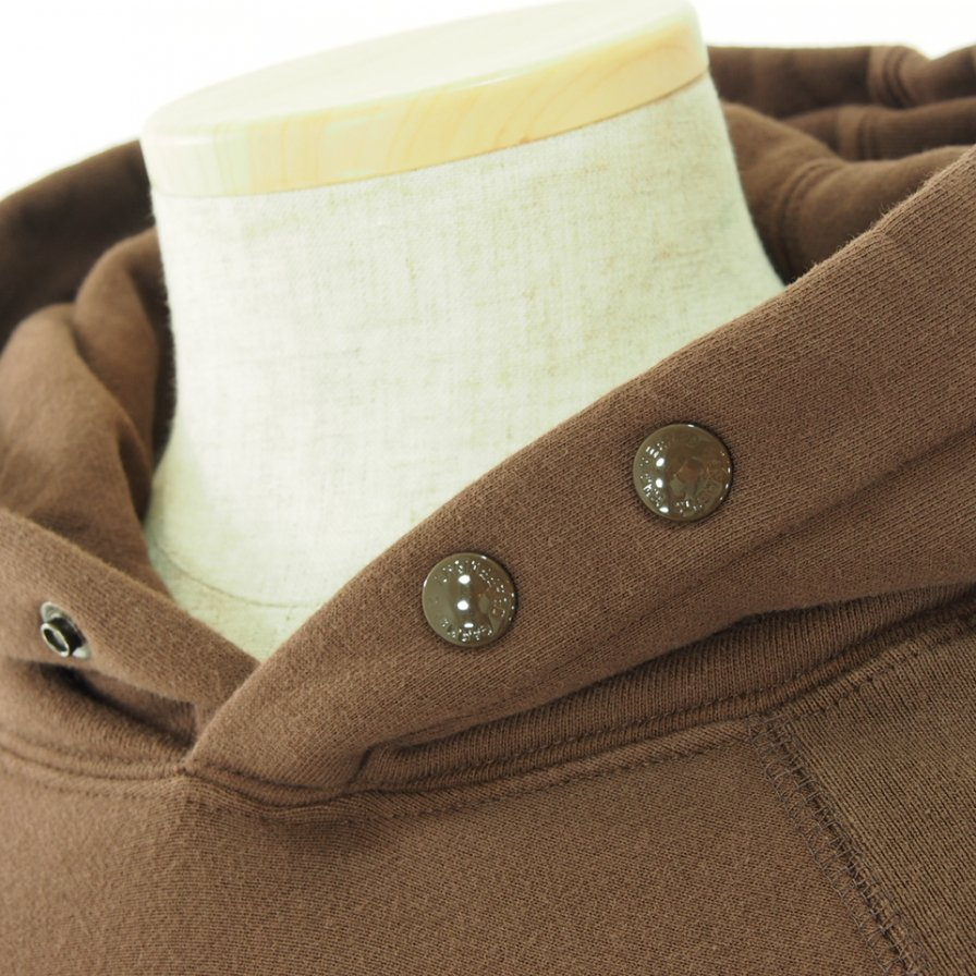 Engineered Garments エンジンニアドガーメンツ - Raglan Hoody ラグランフーディー - Cotton Heavy Fleece - Brown