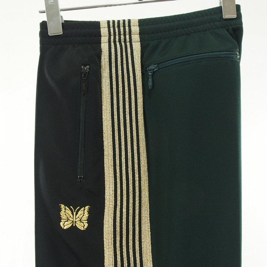 Needles x one day / ニードルズ × ワンデイ 別注 - Track Pant トラックパンツ - Poly Smooth - Black × Dk.Green