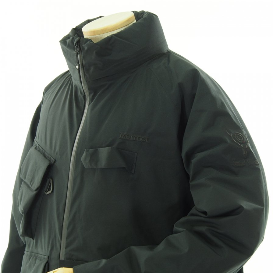 South2 West8 サウスツーウエストエイト × Marmot マーモット #W.E.T. Down Jacket - Solid / GORE-TEX - Black