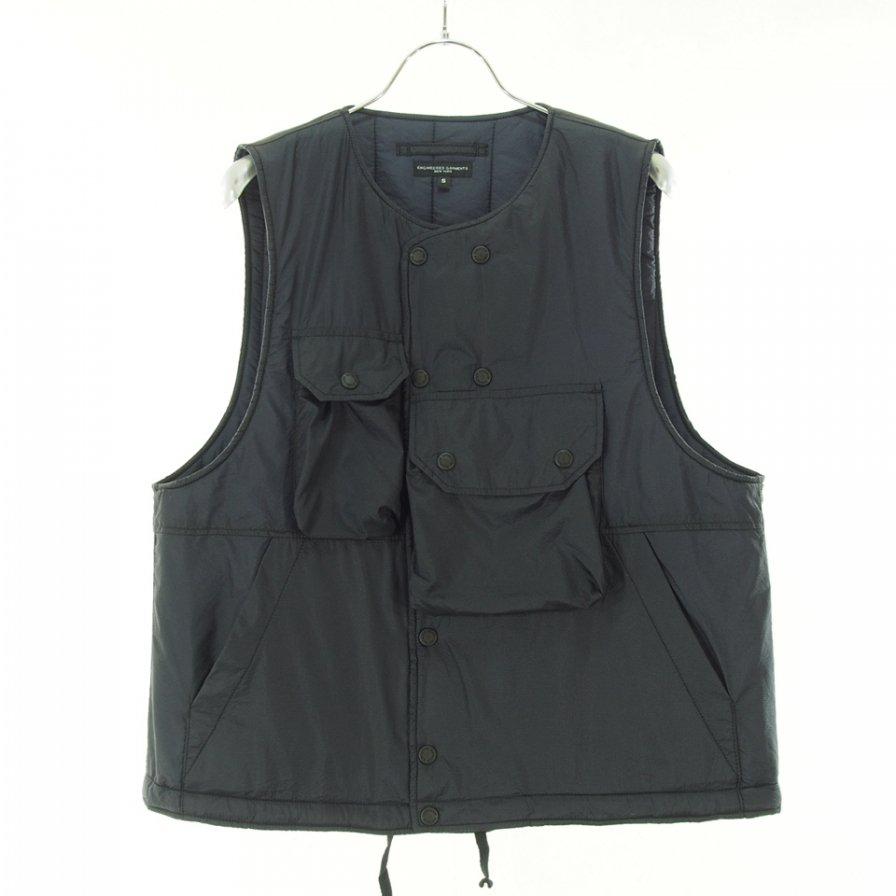 Engineered Garments エンジンニアドガーメンツ - Cover Vest カバーベスト - Nylon Micro Ripstop - Dk.Navy