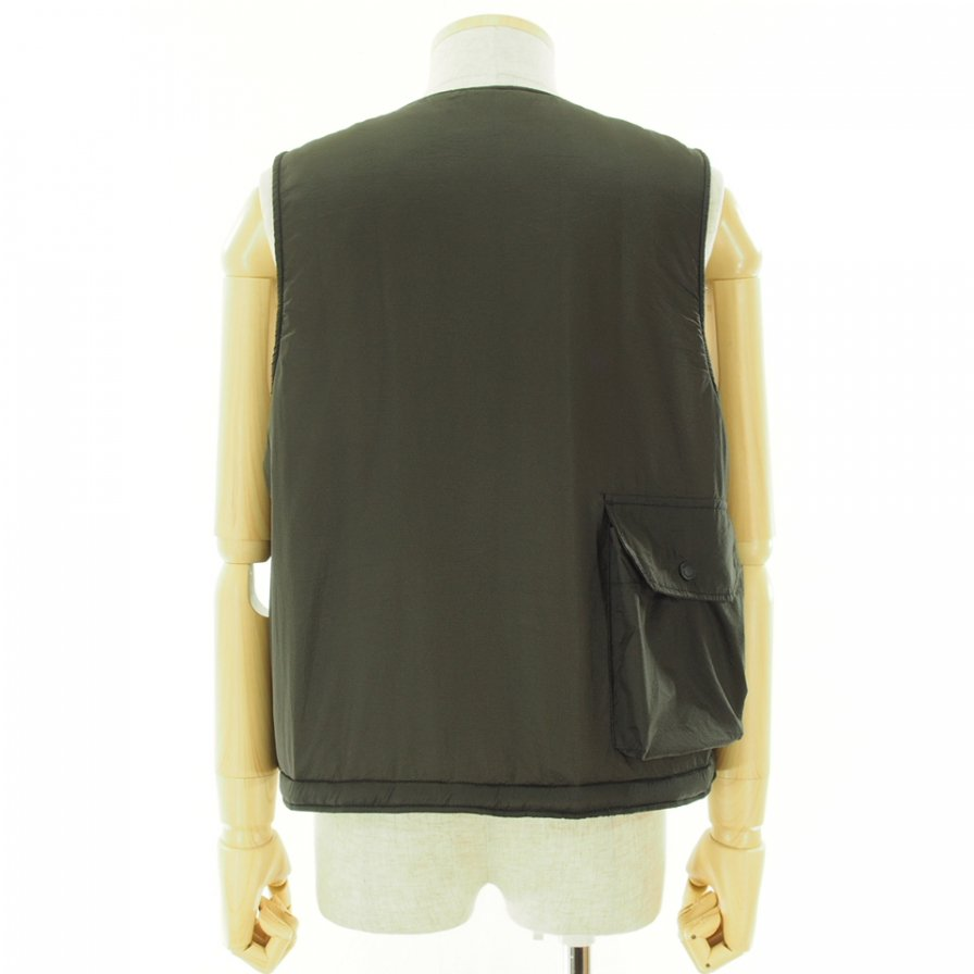 Engineered Garments エンジンニアドガーメンツ - Cover Vest カバーベスト - Nylon Micro Ripstop - Brown