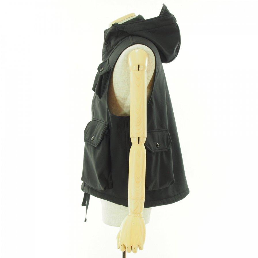 Engineered Garments エンジンニアドガーメンツ - Field Vest フィールドベスト - Polyester Fleece - Black