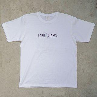 FAKIE STANCE Tee White