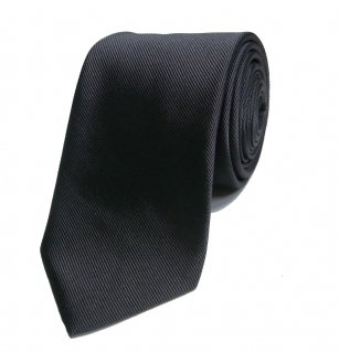 LOWLIGHT-S&B ICON EMBROIDERED NECK TIE CHARCOAL