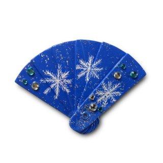 【ひな人形小道具】扇の髪飾り /雪の結晶
