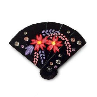 【ひな人形小道具】扇の髪飾り /藤と桜