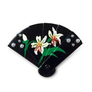【ひな人形小道具】扇の髪飾り /ゆりの花