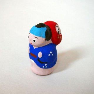 江戸小物玩具/だるま背負 男