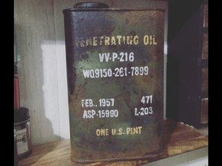 タカラ塗料オリジナルカラーを使ってオイル缶をミリタリー風にリメイク塗装した事例
