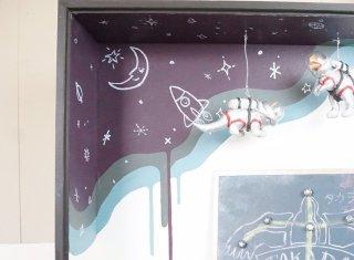 壁紙の上からそのまま!絵を描く感覚で、好きな宇宙空間を作る!