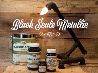 黒皮アイアン風水性塗料「Black Scale Metallic/ブラックスケールメタリック」