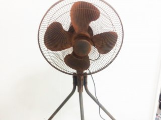 扇風機を錆風にエイジング塗装した事例