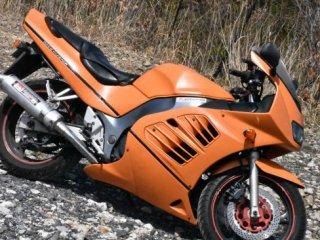 バイクをセレンゲッティオレンジで刷毛塗全塗装