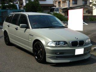 BMWをフレンチグレーで刷毛塗り全塗装