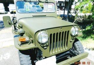 三菱 Jeepをオリーブドラブで刷毛塗全塗装!