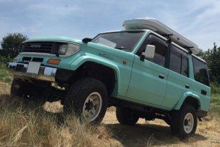 トヨタ ランドクルーザーをカスタムカラー ペールグリーンで刷毛塗全塗装!