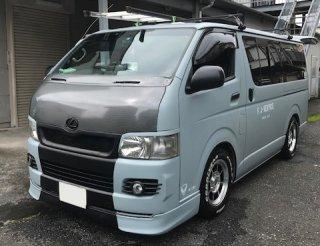 トヨタ ハイエースを世田谷ベースカラーで刷毛塗り全塗装!