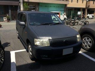 トヨタ サクシードをカスタムカラー SW6993で刷毛塗全塗装!
