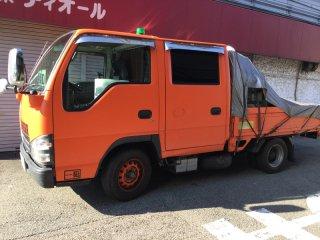 日産 アトラストラックをカスタムカラー ハニーキャロットで刷毛塗り全塗装!