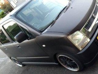 スズキ ワゴンRをマットブラックで刷毛塗り全塗装