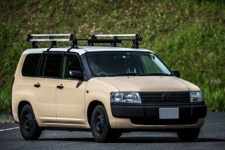 トヨタ プロボックスバンをミルクティベージュで刷毛塗全塗装!