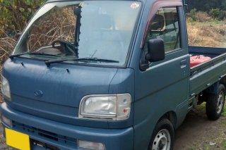 ハイゼット トラックをレインブーツネイビーで刷毛塗り全塗装!