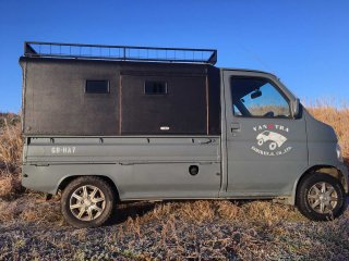 ホンダ アクティトラックをイーグルブルーグレーで刷毛塗り全塗装!