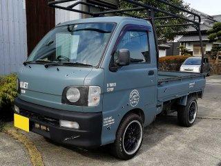 ダイハツ ハイゼットトラックをイーグルブルーグレーで刷毛塗り全塗装!