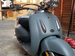 ホンダ JOKER90をイーグルブルーグレーで刷毛塗り全塗装!