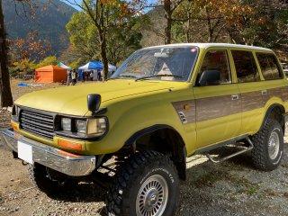 トヨタ ランドクルーザー80をカスタムカラー 25-70Tで刷毛塗り全塗装!