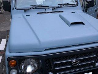 スズキ ジムニーJA22Wをカスタムカラー 69-50Dで刷毛塗り全塗装!