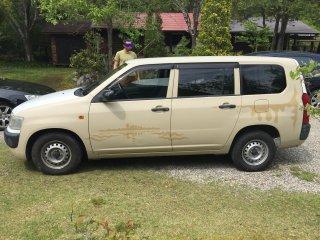 トヨタ プロボックスをミルクティーベージュで刷毛塗り全塗装!