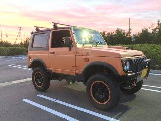 スズキ ジムニーJA22をセレンゲッティオレンジで刷毛塗り全塗装!