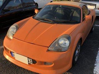 トヨタ MR-Sをセレンゲッティオレンジで刷毛塗り全塗装!