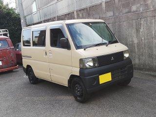 三菱 ミニキャブU62Vをミルクティーベージュで刷毛塗り全塗装!