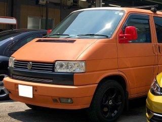フォルクスワーゲン ヴァナゴンをセレンゲッティオレンジで全塗装!