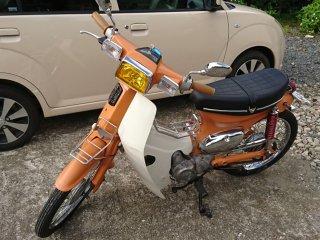 ホンダ スーパーカブをセレンゲッティオレンジで刷毛塗り全塗装!