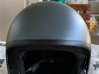 SHOEI J.O.(ヘルメット) をイーグルブルーグレーで刷毛塗り全塗装!