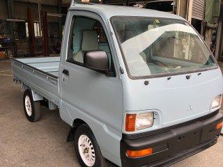 三菱 ミニキャブトラックを世田谷ベースカラーで全塗装!