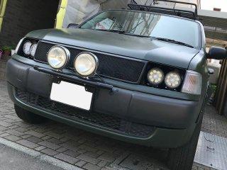 トヨタ プロボックスをグレイッシュダークグリーンで刷毛塗り全塗装!