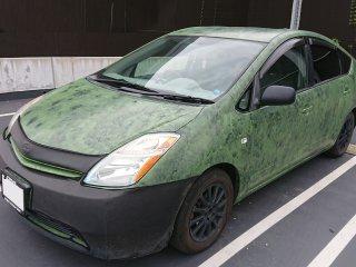 トヨタ プリウス20をアイシンクグリーンで刷毛塗り全塗装!