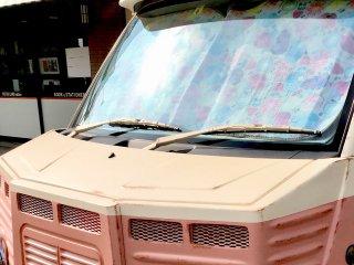 スズキ エブリイワゴンをカスタムカラー カスタムベージュとピンクブラウンで刷毛塗り全塗装!