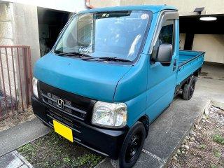 ホンダ アクティトラックをカスタムカラー 日本の伝統色 納戸色(DIC N-885)で全塗装!