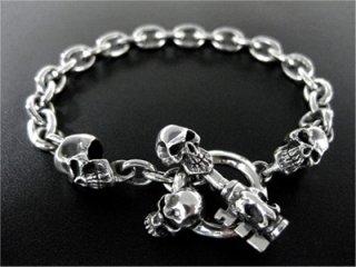 【TRANSCORE】 Skull Key Chain Bracelet