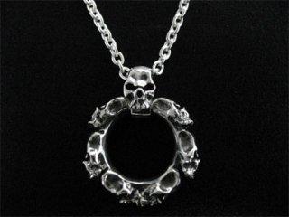 【TRANSCORE】 Round Skull Pendant