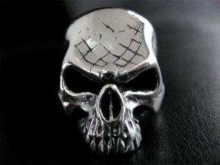 【TRANSCORE】 Snake Skin Skull Ring / no Jaw
