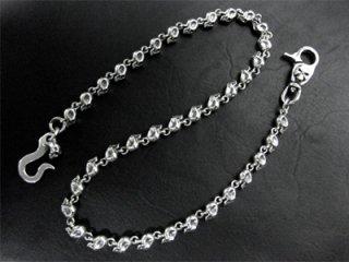 【TRANSCORE】 Petit Skull Links_wallet-chain