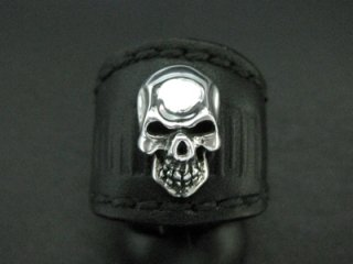 【TRANSCORE】 TSC SKULL Leather Ring